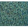 Seedbead Dark Green 10/0 Transparent Matte Aurora Borealis